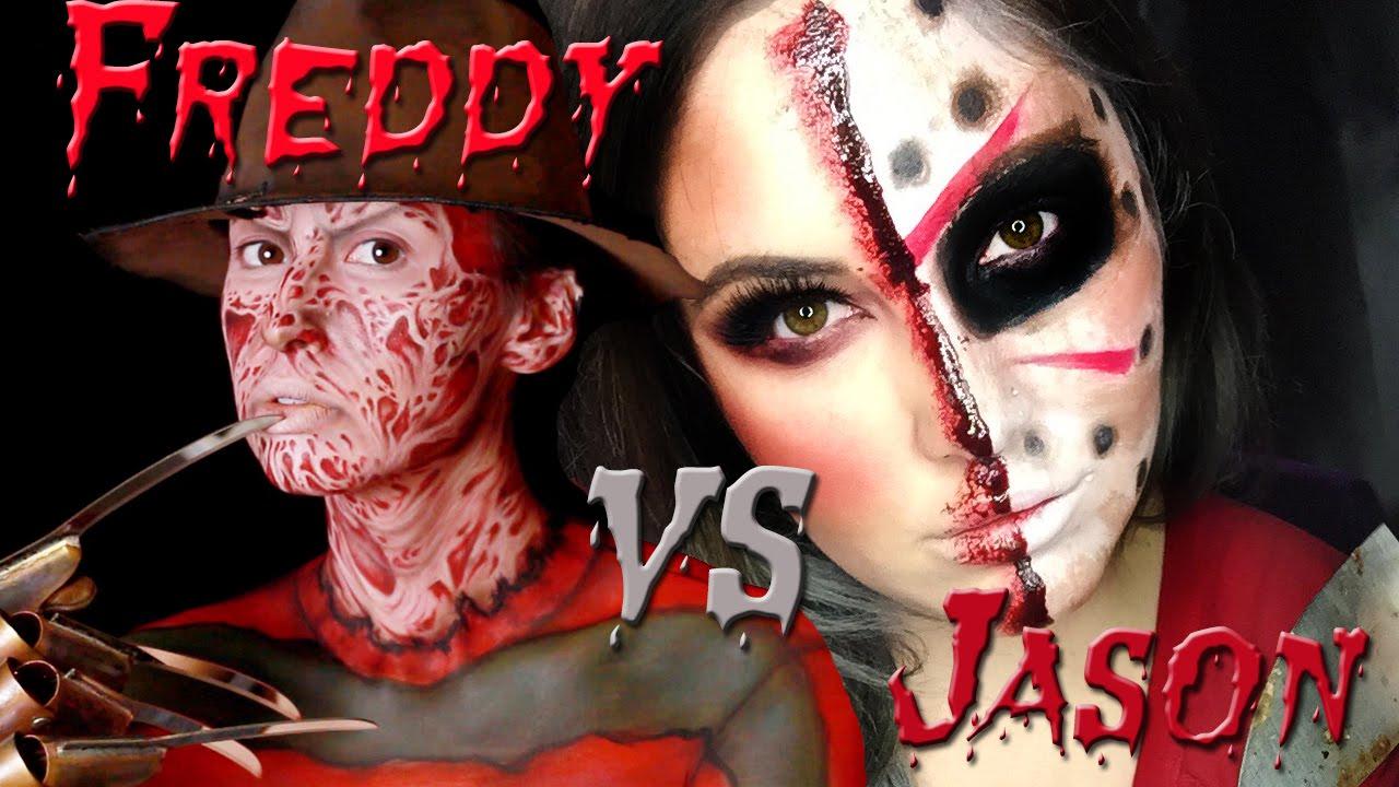 Freddy vs Jason Makeup Tutorial! (Feat Courtney Little) - YouTube