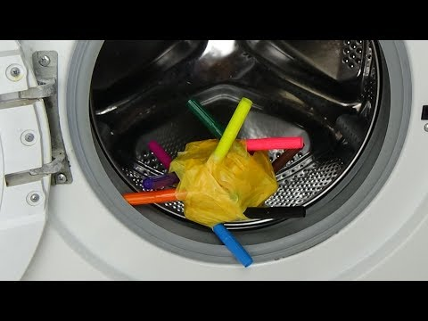 Test - experiment - make art painting in a washing machine - making painting art in washer, #77