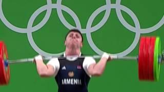Штангист из Армении вывихнул локоть во время олимпиады в РИО 2016