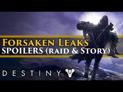 Destiny 2 Forsaken: Huge SPOILERS leaked... Raid boss, lore and character details!