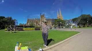 Ali&#39s Bubble Art, Soap Bubbles in Sydney, Australia, March 9th 2014
