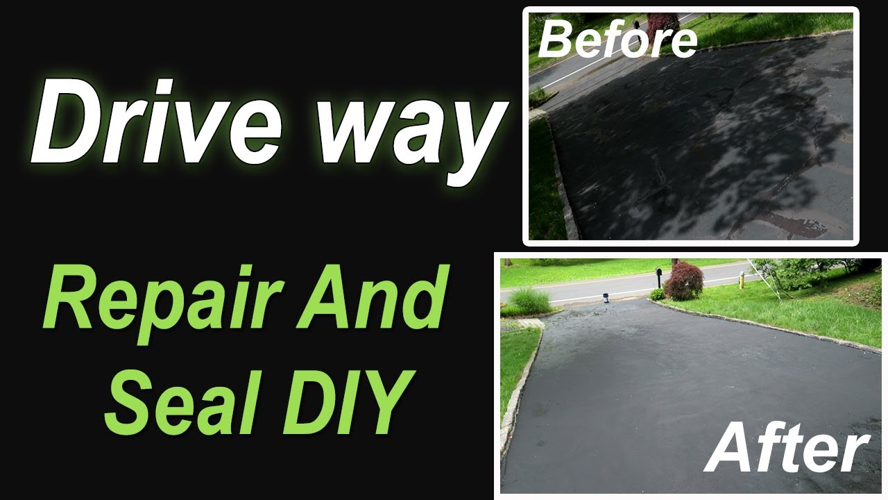 Asphalt seal your driveway diy youtube asphalt seal your driveway diy solutioingenieria Choice Image