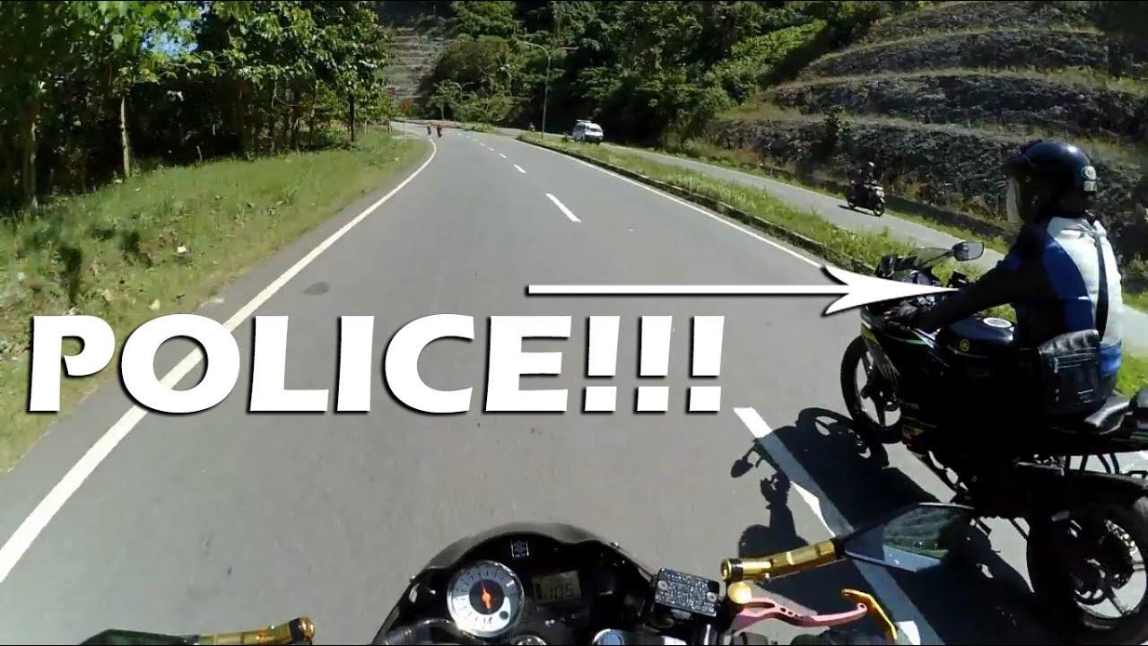 Dikejar Polisi  Suzuki Satria Fu Karbu Vs Yamaha R15