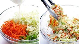 Легкий салат с молодой капустой и морковью. Karom va sabzidan yengil va oson salat tayyorlash.