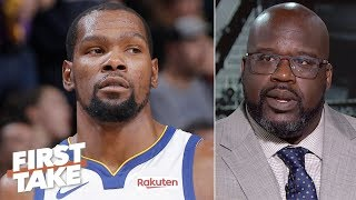 Download KD, Klay put the Warriors in a tougher spot than the Lakers in free agency - Shaq | First Take Mp3 and Videos
