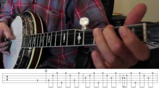 Beginning Bluegrass Banjo - Lesson 11 - Introduction to Worried Man Blues
