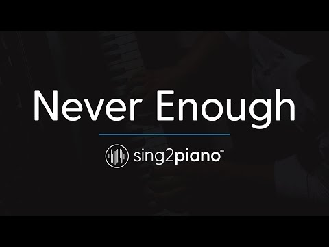 Never Enough (Piano Karaoke Instrumental) The Greatest Showman