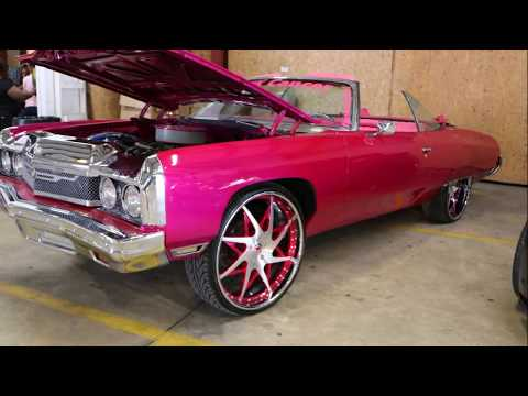 WhipAddict: Kandy Magenta 73' Chevy Impala Convertible on Forgiato Turni 26s, Custom Interior