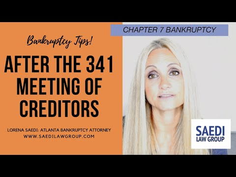 What Do You Do #After the Chapter 7 #341 #Meeting of #Creditors #Hearing?