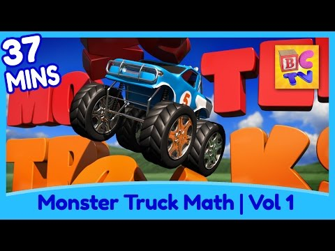 Thumbnail: Learn Math and Counting Monster Trucks for Kids | Compilation Vol 1