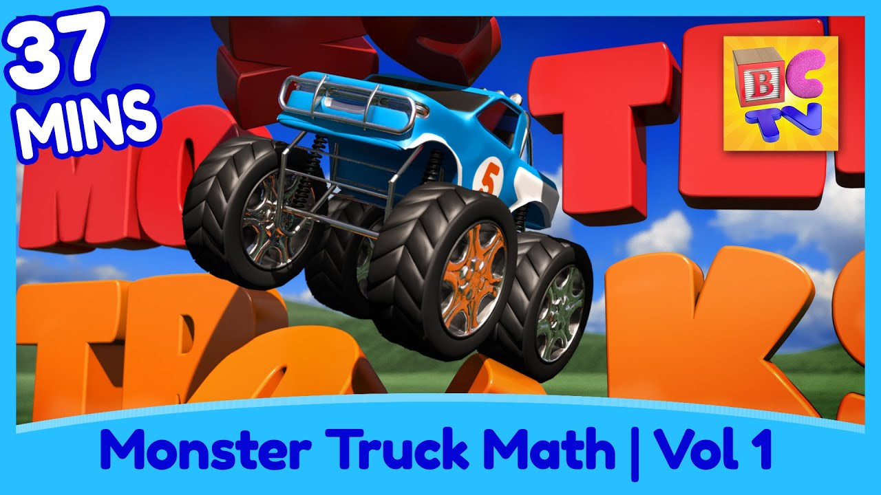 Learn Math And Counting Monster Trucks For Kids