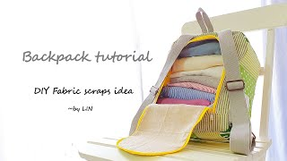 Have fabric scraps?Here's the way to use them up!   Best christmas gift / Backpack tutorial【08】