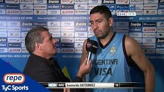 Mano a mano con Leo Gutiérrez antes de enfrentar a Senegal