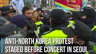 Anti North Korea protest staged before concert in Seoul