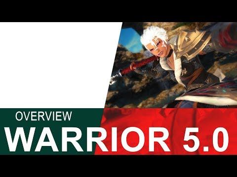 FFXIV 5 0 WARRIOR OVERVIEW - Crazy Healing & Crazy Damage!