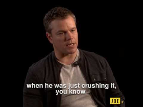 Matt Damon Talks About The Famous Park Bench Scene With Robin Williams In Good Will Hunting