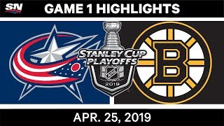 NHL Highlights | Bruins vs. Blue Jackets, Game 1 - April 25, 2019