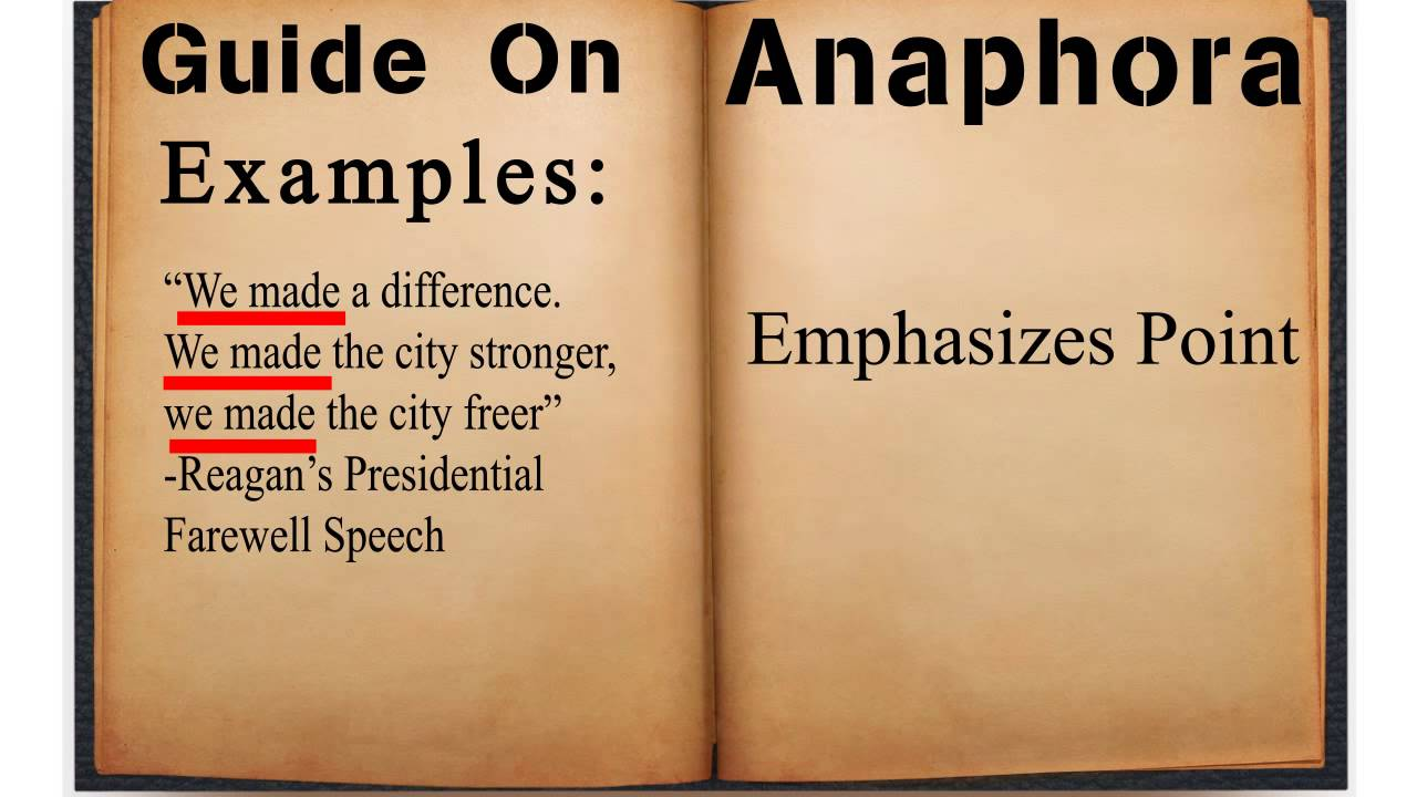 guide on anaphora youtube