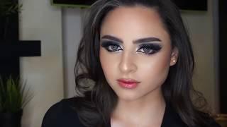 مكياج رمادي براق  glitter makup by souna