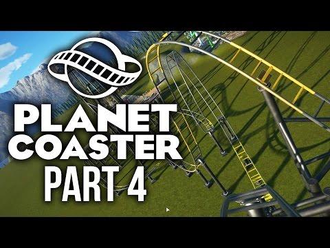 Planet Coaster Gameplay Walkthrough Part 4 - FIRST ROLLERCOASTER (Challenge)
