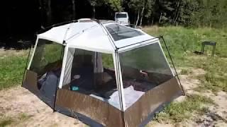 Большая кемпинговая палатка Cabin Dome 10. Обзор.
