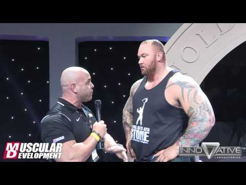 Strongman Hafthor Bjornsson's Post-Win Interview - Arnold Classic Africa 2016