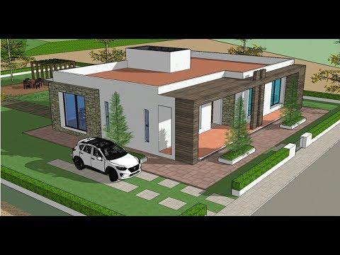 Planos de casas un piso con 3 rec maras proyecto for Casa habitacion minimalista