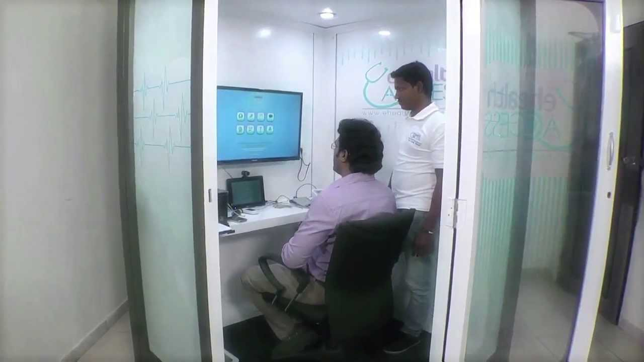 Telemedicine project in Gujarat with medical kiosk by ehealthaccess com in  tribal village