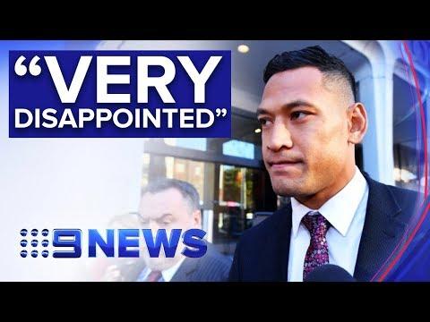 Israel Folau and Rugby Australia go to court after conciliation fails | Nine News Australia