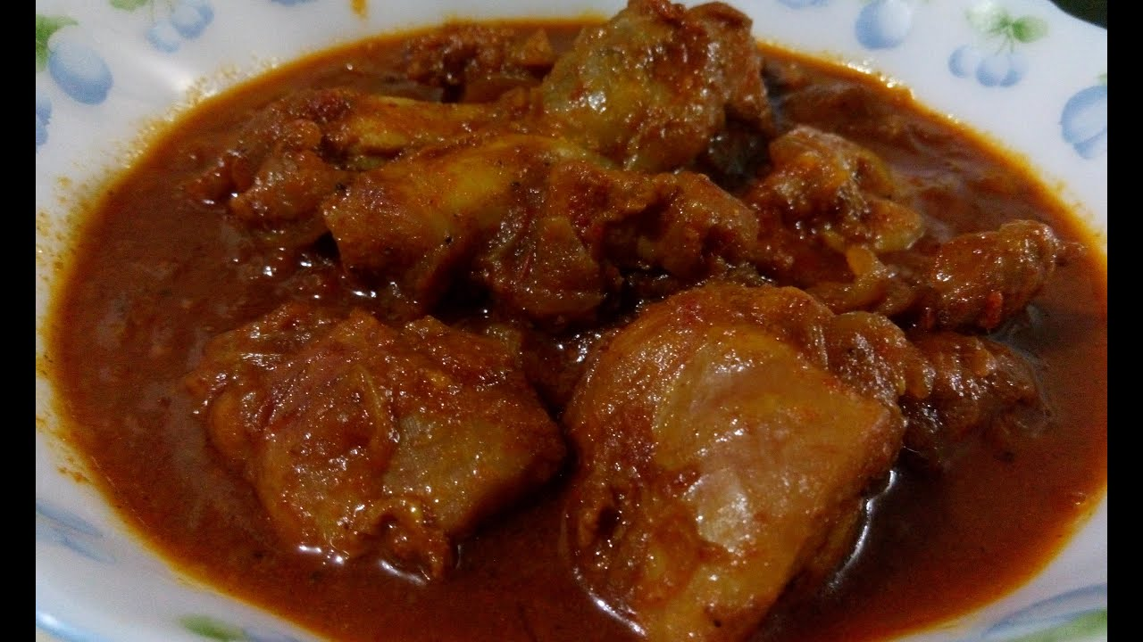 how to cook chicken curry video