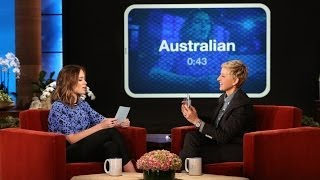 Emily Blunt and Ellen Play 'Heads Up!'