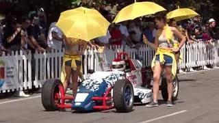 Start - Formel Rennwagen + Sonnenschutz # Caramulo - 2016 # Portugal !(Caramulo Motorsportvestival 2016 - Fahrer weden vor Strat von Hostessen mit Sonnenschirmen vor Gluthitze geschützt ! wie schön !, 2016-09-07T12:29:26.000Z)