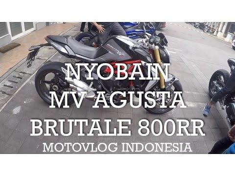 Nyobain MV Agusta Brutale 800RR - Indonesia #motovlog 95