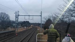 E653系1000番台臨時快速那須塩原行通過(東北本線高久駅)