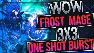 Wow legion 7.3 ВОВ ЛЕГИОН МАГ ПВП РМП 3х3 RMP| ONE SHOT BURST | РЕЙТИНГ АРЕНЫ 2.6К