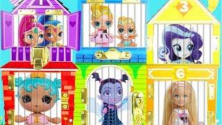 LOL Surprise Dolls Fake Vs Real Lil Sisters Surprise Egg + Confetti Pop Dress Up, Pets Pods Kawaii!