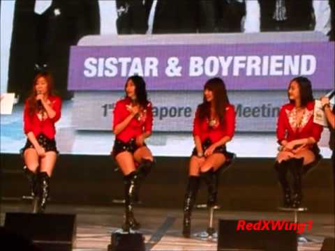 (Part 3) SISTAR In Singapore 2012 - Singlish & The Fans (1st Singapore Fanmeet)