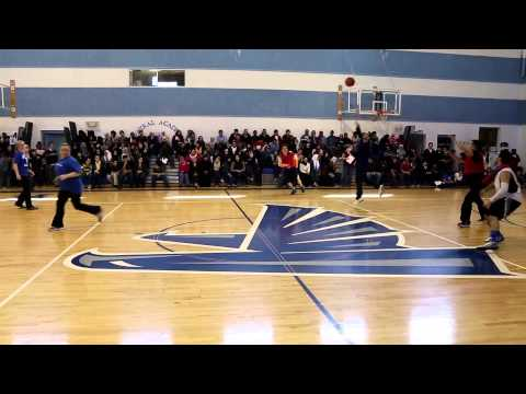 Central Academy staff vs. parents Basketball Game 2014