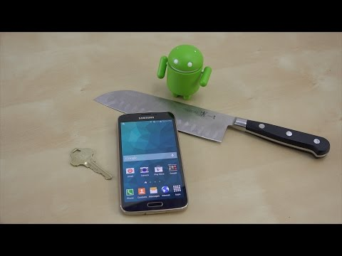 Samsung Galaxy S5 Scratch Test with Keys & Knife | S5 Torture Test