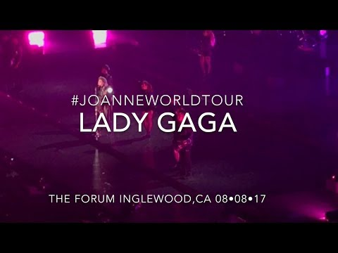 LADY GAGA JOANNE WORLD TOUR CONCERT AT THE FORUM LOS ANGELES