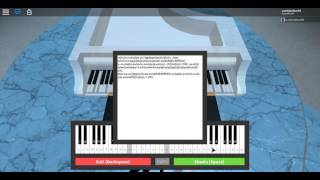 playing the piano in roblox