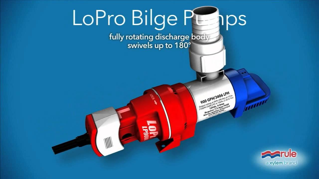 Rule Lp900 Series Bilge Pumps Youtube Wiring Diagram
