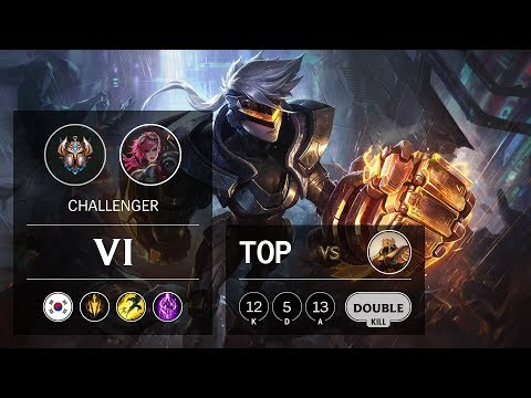 Vi Top vs Azir - KR Challenger Patch 9.14