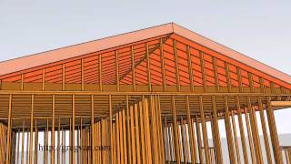 House Roof Framing – 3-d Single-story Conventional Home Framing Design