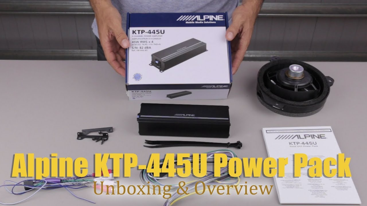 Alpine KTP-445U Unboxing, Overview, & Installation Intro on sincgars radio configurations diagrams, series and parallel circuits diagrams, engine diagrams, electronic circuit diagrams, friendship bracelet diagrams, led circuit diagrams, transformer diagrams, smart car diagrams, motor diagrams, pinout diagrams, honda motorcycle repair diagrams, troubleshooting diagrams, internet of things diagrams, switch diagrams, hvac diagrams, battery diagrams, gmc fuse box diagrams, electrical diagrams, lighting diagrams,