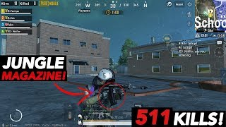 NEW JUNGLE STYLE MAGAZINE IS OP! | 511 Kills Gameplay! | PUBG Mobile