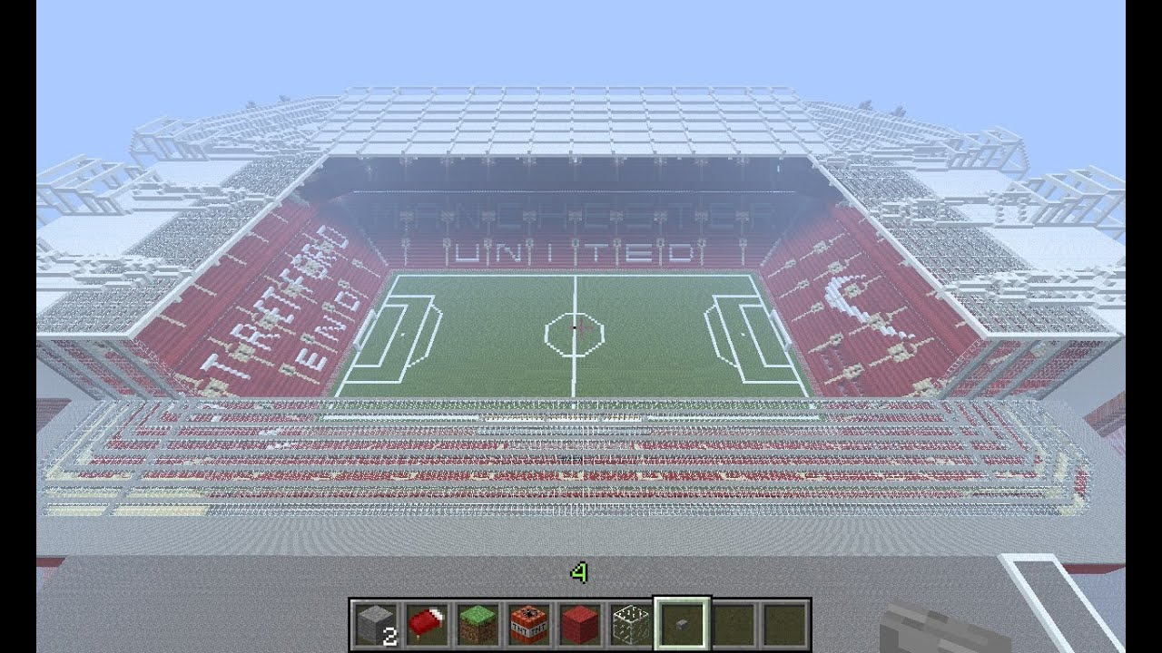 how to build old trafford minecraft