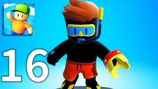 Stumble Guys - Gameplay Walkthrough Part 16 - Stumble Pass and Crown Win (iOS, Android)