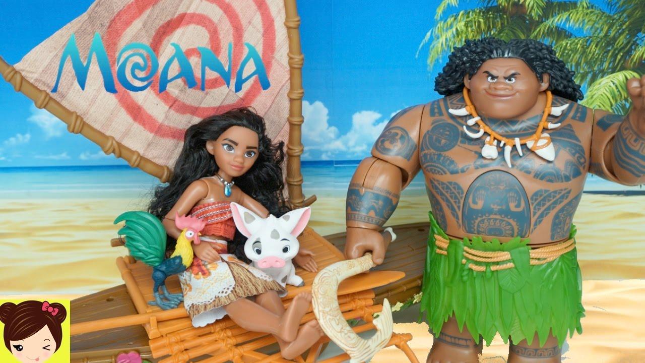 Disney Moana Juguetes y Muñecas - Vaiana Nadadora Mauai y ...