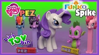 My Little Pony PEZ Dispensers and Spike the Dragon Funko Vinyl Figure Review!!! by Bins Toy Bin!
